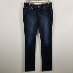 Paige Blue Heights Womens Straight Leg Jeans 28
